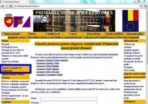 Concurs de proiecte pentru alegerea consilierului primarului municipiului Roman