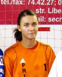 Andreea Polocoșer (HCM Roman), cel mai bun portar al turneului
