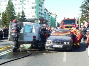 [FOTO] Pompierii au acordat primul-ajutor în centrul orașului