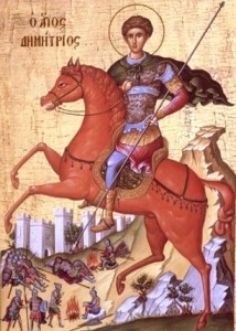 Sfîntul Mare Mucenic Dimitrie, Izvorîtorul de Mir