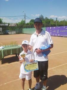 Matei Băncescu şi antrenorul Ioan Isciuc