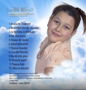 Vedetă la 11 ani, Roxana lansează un album muzical