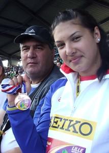 Antrenorul Lucică Cucoş şi Roxana Perie