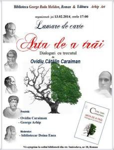 """Despre """"Arta de a trăi"""", cu Ovidiu Caraiman"""