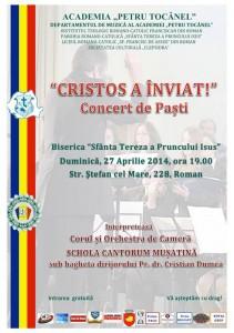 """Concert de Paşti la Biserica """"Sfânta Tereza a Pruncului Isus"""""""