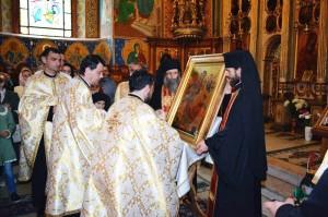 Icoană de la Muntele Athos dăruită Catedralei Arhiepiscopale