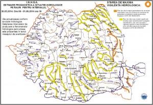 Cod galben hidrologic pe Siret şi Moldova