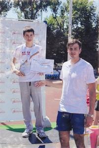 Andrei Mărieş şi antrenorul Iulian Corugă