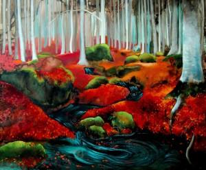 Alexandra Vasile şi curajul de a se exprima prin pictură