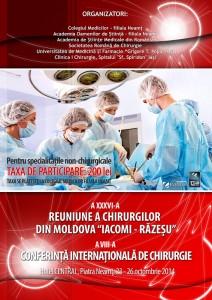Chirurgii de renume din ţară se întâlnesc în Neamţ
