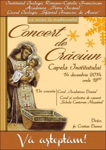 Concert de colinde la Institutul Franciscan Roman