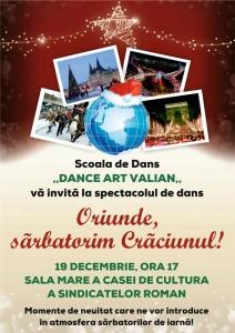 """""""Oriunde sărbătorim Crăciunul"""", la Casa de Cultură Roman"""