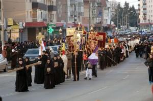 Procesiune cu sfintele icoane, în Duminica Ortodoxiei