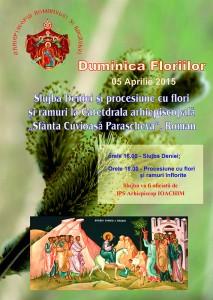 Procesiune de Florii, la Roman