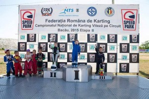 Debut pe podium pentru un pilot romașcan de karting