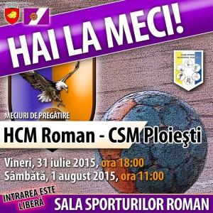 HCM Roman începe meciurile de verificare