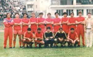 Laminorul Roman în 1989 - antrenorul principal Ioan Zăloagă în dreapta