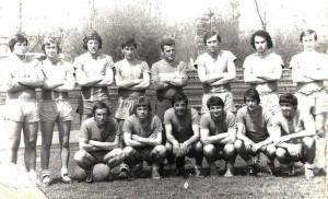 Echipa Laminorul Roman în 1974. Aurel Bălan, primul din stânga
