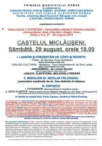 Eveniment cultural la Castelul Miclăuşeni