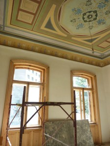 Lucrările de pictură de la casa Ioachim, finalizate în noiembrie
