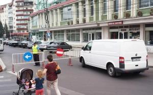 Circulația a fost închisă în centrul oraşului
