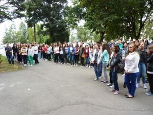 """Bobocii au făcut turul Colegiului Național """"Roman-Vodă"""""""