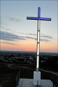Cruce luminoasă de şapte metri în satul Buruieneşti