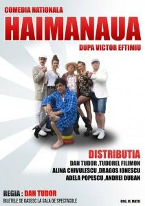 """Spectacolul """"Haimanaua"""", pe scena Casei de Cultură din Roman"""