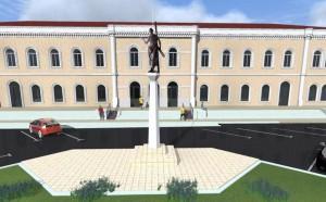 Cum va arăta statuia Sfântului Andrei de la gară