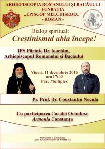 Părintele Constantin Necula şi academicianul Constantin Bălăceanu-Stolnici conferențiază la Roman