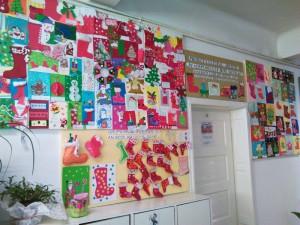 Felicitări şi podoabe de Crăciun, realizate de elevi