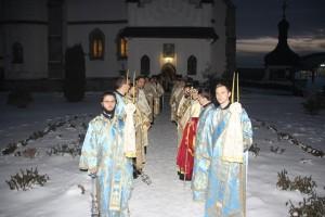 Episcopul ortodox român al Europei de Nord a slujit la Roman