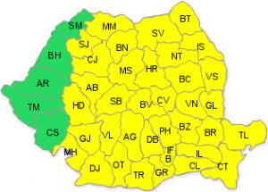 Cod galben de ger, până pe 25 ianuarie