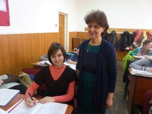 Eliza Donici si profesor Liliana Moldoveanu